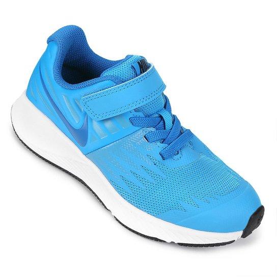 4d4d49537426 Tênis Infantil Nike Star Runner - Azul Piscina e Branco - Compre ...