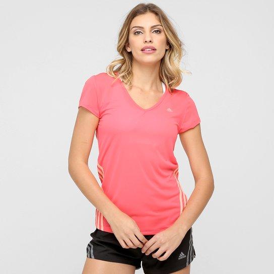 Camiseta Adidas ESS Clima 3S LW Feminina - Rosa - Compre Agora ... e214c71fb4e4c