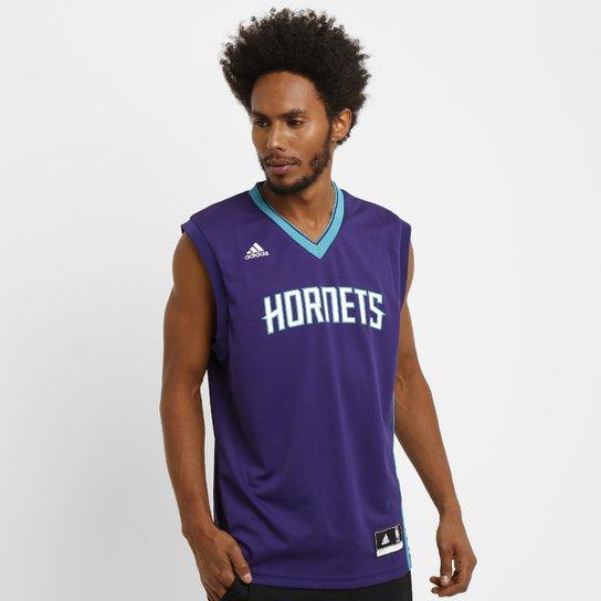 Camiseta Regata Adidas NBA Charlotte Hornets Road - Compre Agora ... 696c7697380