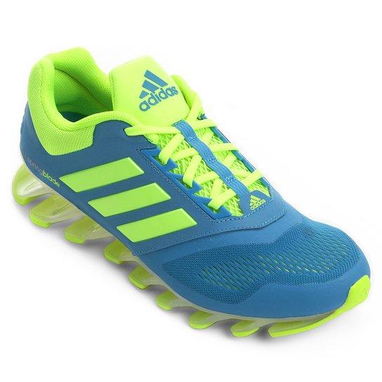 e36cf13b0d Tênis Adidas Springblade Drive 2 Masculino - Azul+Verde Limão