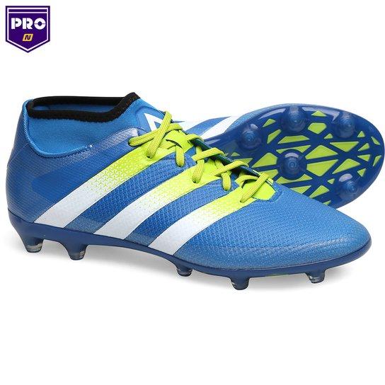 9c68c0fa7cc57 Chuteira Campo Adidas Ace 16.2 Primemesh FG Masculina - Azul Turquesa+Verde  Limão