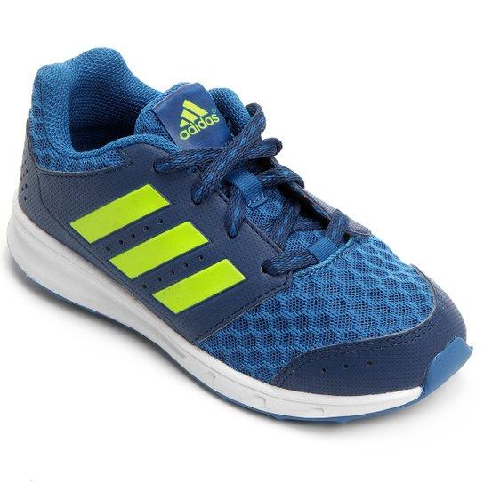 faef3984a18 Tênis Adidas Lk Sport 2 K Text Infantil - Marinho+Verde Limão