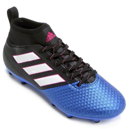 f1db82b3a3 Chuteira Campo Adidas Ace 17.3 FG - Preto+Azul