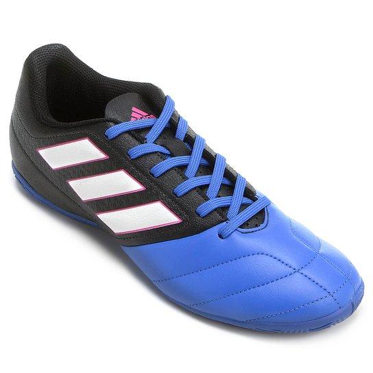 f931729571 Chuteira Futsal Adidas Ace 17.4 IN - Preto e Azul