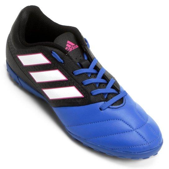 cefb17df2 Chuteira Society Adidas Ace 17.4 TF - Preto e Azul