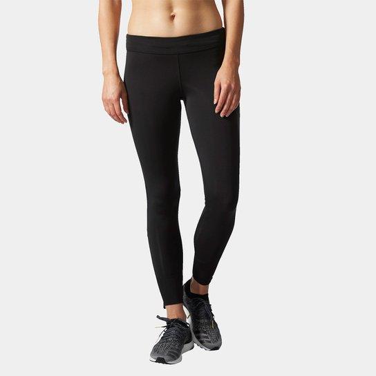 Calça Legging Adidas Response Feminina - Preto e Azul - Compre Agora ... 11e000f275869