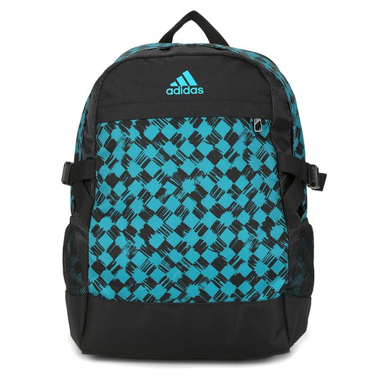 dceba66dd Mochila Adidas Power 3 Masculina - Preto+Azul Turquesa