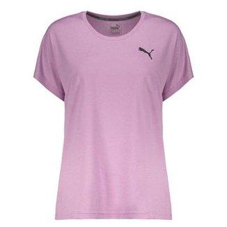 8ad78def7bf0f Camiseta Puma Active Mesh Heather Feminina