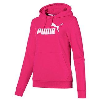 57adf3fbf Moletom Puma Essentials Logo Hoody Feminina