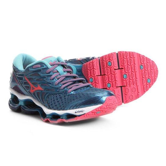 Tênis Mizuno Wave Viper 3 Feminino - Azul e Verde - Compre Agora ... f54d4425a87e4