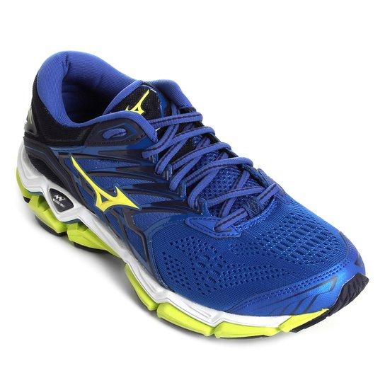 Tênis Mizuno Wave Horizon 2 Masculino - Azul e Verde - Compre Agora ... 507f04d8c22f2