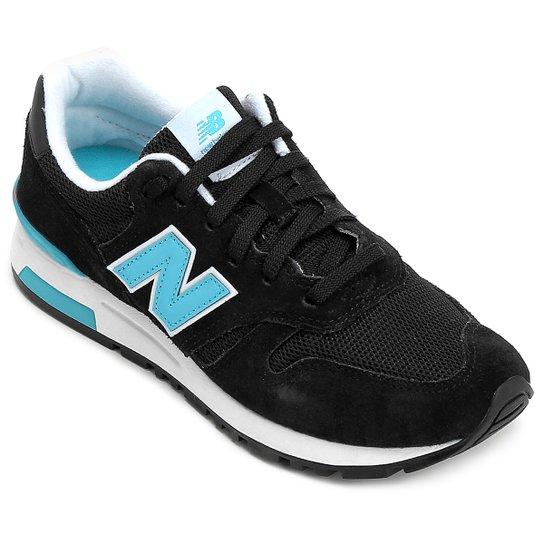 f4e81198a98 Tênis New Balance 565 - Preto e Azul Turquesa - Compre Agora