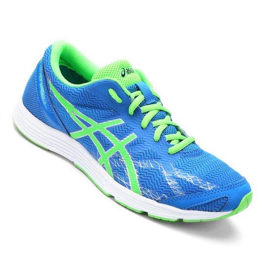 309008e1537 Tênis Asics Gel Hyper Speed 7 Masculino - Azul+Verde Limão