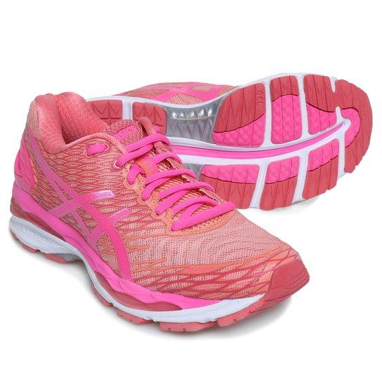 7fe712430a0 Tênis Asics Gel Nimbus 18 Feminino - Rosa - Compre Agora
