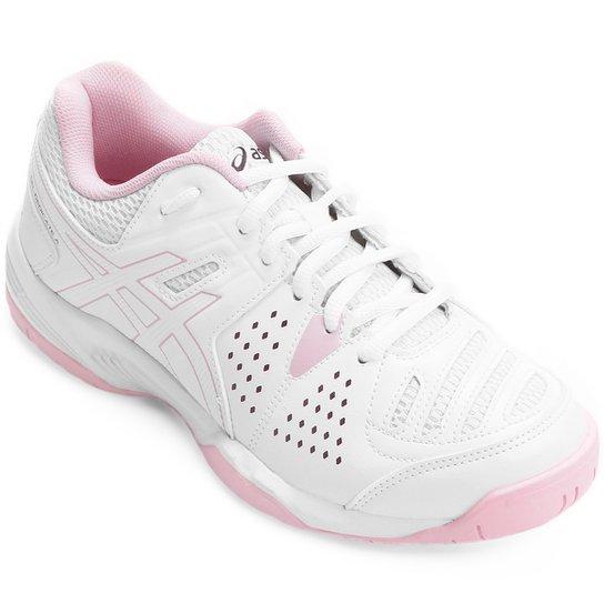 137424e9500a7 Tênis Asics Gel Dedicate 4 - Branco e Rosa - Compre Agora