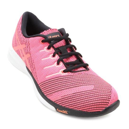 03d0a4c14a0c2 Tênis Asics Fuzex Knit Feminino - Rosa - Compre Agora