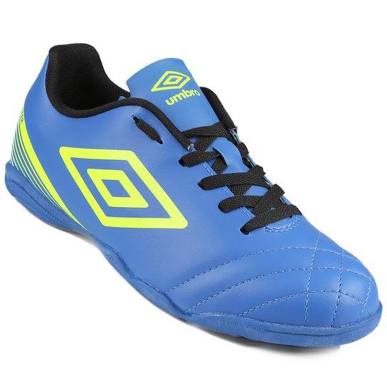 Chuteira Futsal Umbro Striker 3 Masculina - Azul+Verde Limão eda513e85d95a