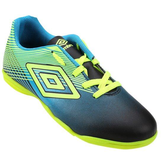 Chuteira Futsal Infantil Umbro Slice 3 - Azul e Verde Limão - Compre ... 2f3f5136d08e9