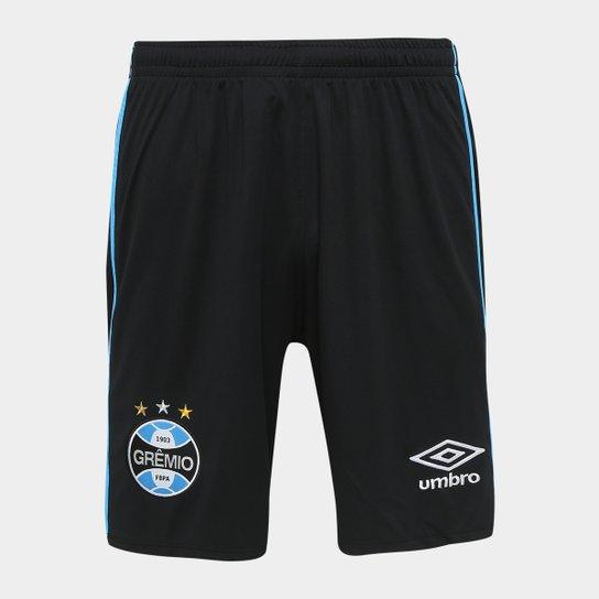 906b1ca271 Calção Grêmio I 18 19 Umbro Masculino - Preto e Azul - Compre Agora ...