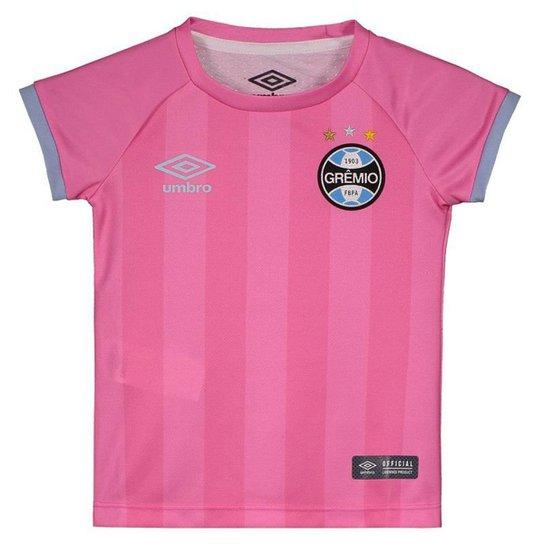 da890562e085f Camisa Umbro Grêmio 2017 Outubro Rosa Infantil Feminina - Rosa ...