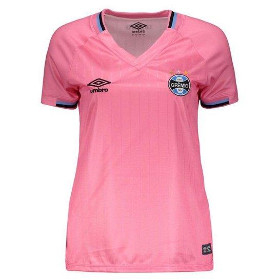 87d136e52c6d1 Camisa Umbro Grêmio 2018 Outubro Rosa Feminina - Rosa - Compre Agora ...