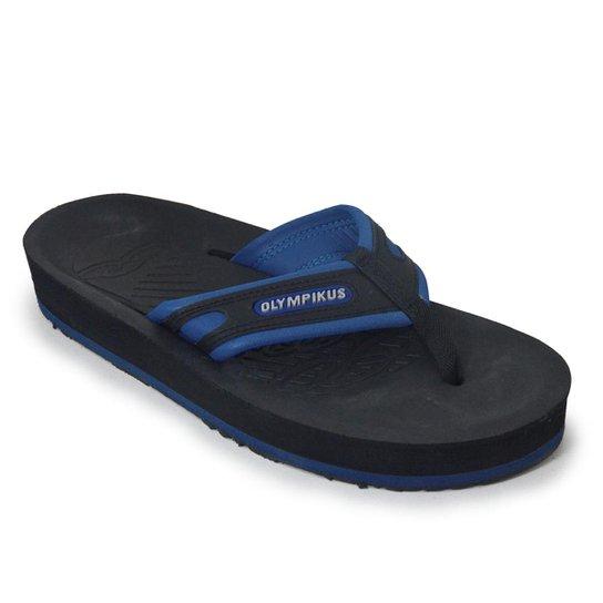 1fc1796db0bfc8 Chinelo Olympikus Sand 920 Masculino - Preto e Azul