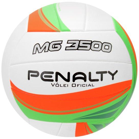 dfcc94354ea85 Bola Penalty Vôlei Mg 3500 5 - Branco+Laranja