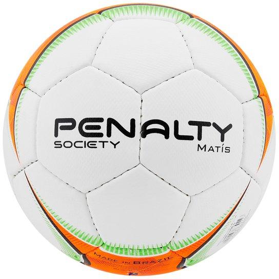 fabfa1939a Bola Futebol Penalty Matis 5 Society - Branco+Laranja