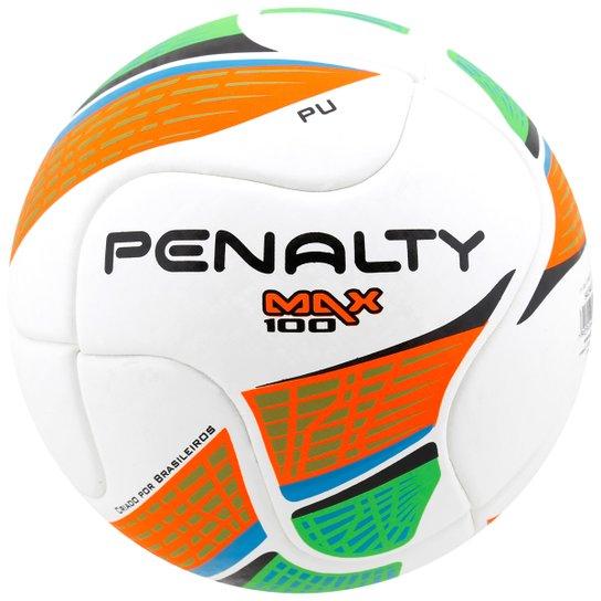 51dc5981d715e Bola Futebol Penalty Max 100 Termotec 5 Futsal - Branco+Laranja