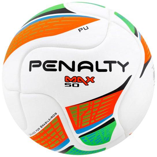 4d825591ff Bola Futebol Penalty Max 50 Termotec 5 Futsal - Branco+Laranja