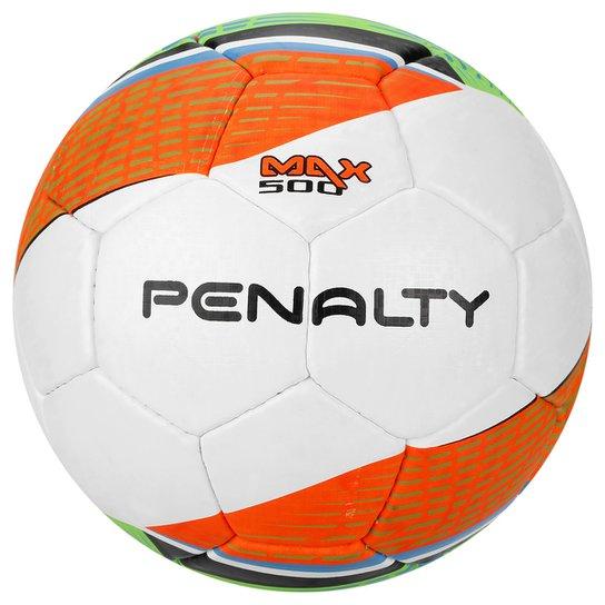 Bola Futebol Penalty Max 500 Termotec 5 Futsal - Branco+Laranja 83cfcf9974bbb