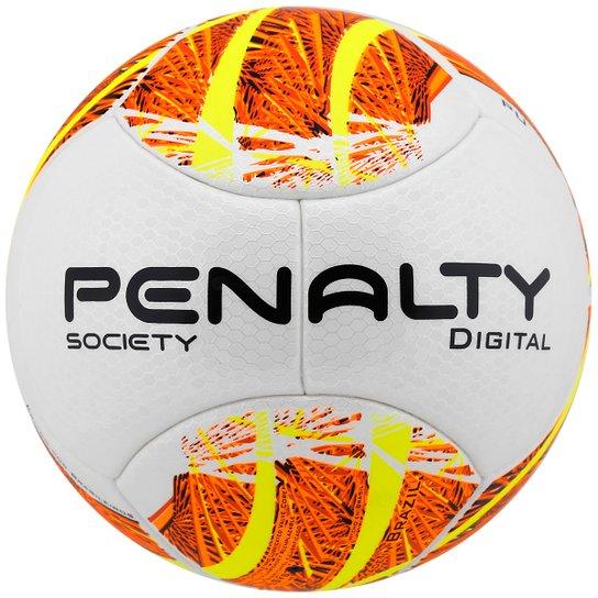 0698f96941 Bola Penalty Digital 5 Society - Branco+Laranja