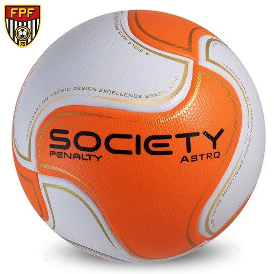 Bola Futebol Penalty 8 S11 Astro 6 Society - Branco+Laranja e6dfb1248597a