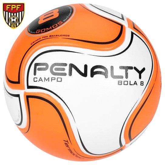 Bola Futebol Penalty 8 S11 R2 6 Campo - Branco+Laranja f0e619abe814f