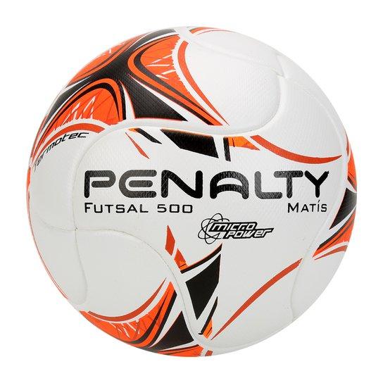 Bola Futsal Penalty Matis 500 Termotec 7 - Branco+Laranja 866cbeaeab264