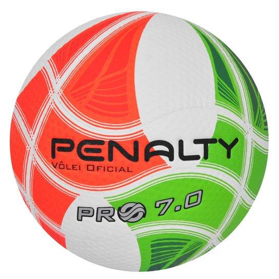cb7bad895d Bola Penalty Volei Pro 7.0 - Branco+Laranja