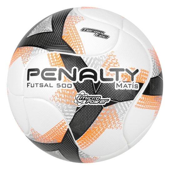 76fa44e090 Bola Futsal Penalty Matis 500 Termotec VIII - Branco e Laranja ...