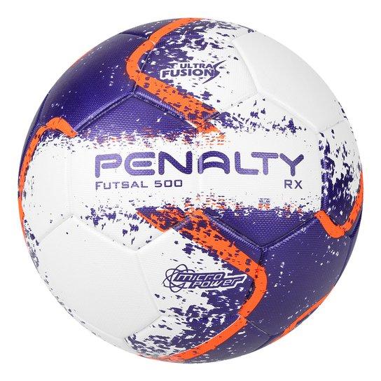 39b387db6 Bola Futsal Penalty RX 500 R2 Fusion VIII - Branco e Laranja ...