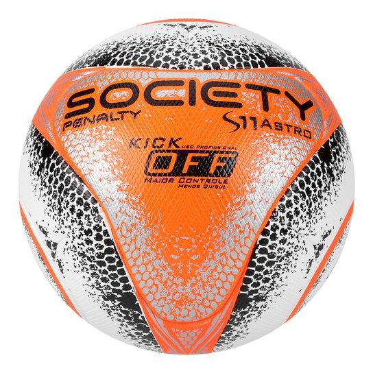 061634aa1a8a8 Bola Futebol Society Penalty S11 Pro Astro KO VIII - Branco+Laranja