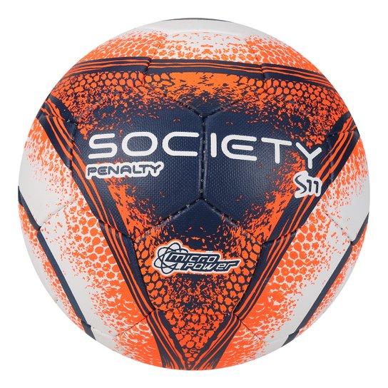6d40a0f9fe Bola Futebol Society Penalty S11 R4 VIII - Branco+Laranja