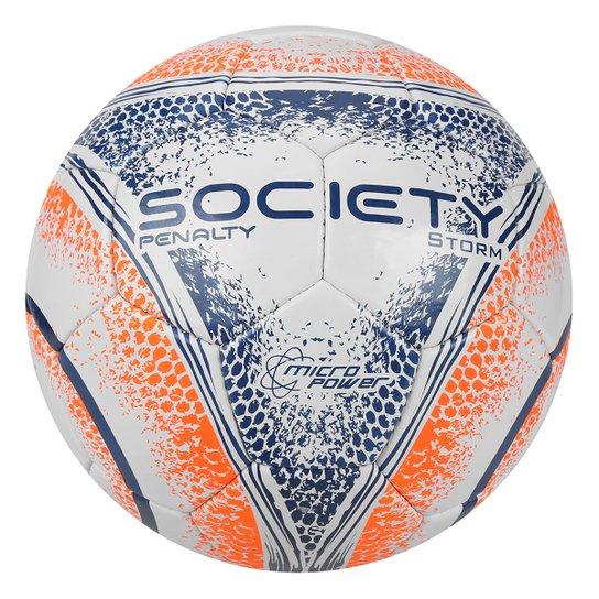 7630018fe8 Bola Futebol Society Penalty Storm C C VIII - Branco e Laranja ...