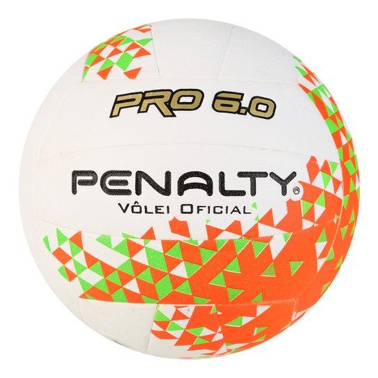 6a4044638d Bola de Vôlei Penalty 6.0 Pro VIII - Branco e Laranja - Compre Agora ...