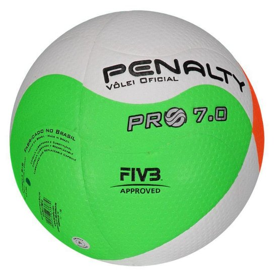 Bola de Vôlei Penalty 7.0 Pro VIII - Branco e Laranja - Compre Agora ... ff480d965f2c0