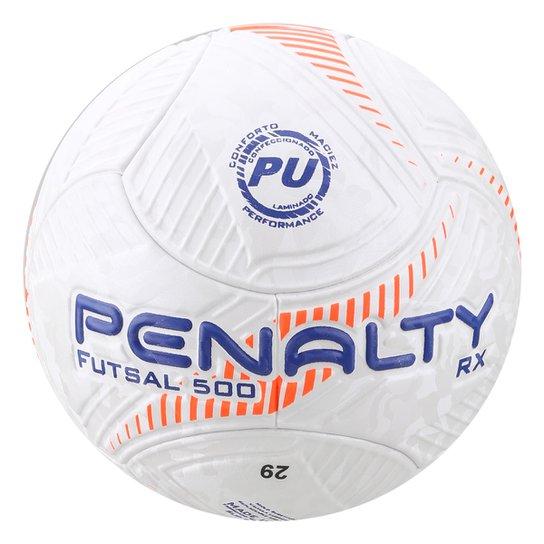 50febede1 Bola Futsal Penalty Rx Fusion VIII - Branco e Laranja - Compre Agora ...