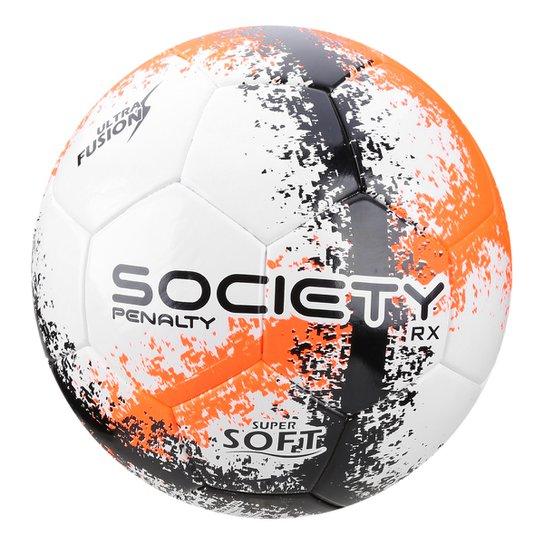 a272e36941 Bola de Futebol Society Rx R3 Fusion VIII - Branco e Laranja ...
