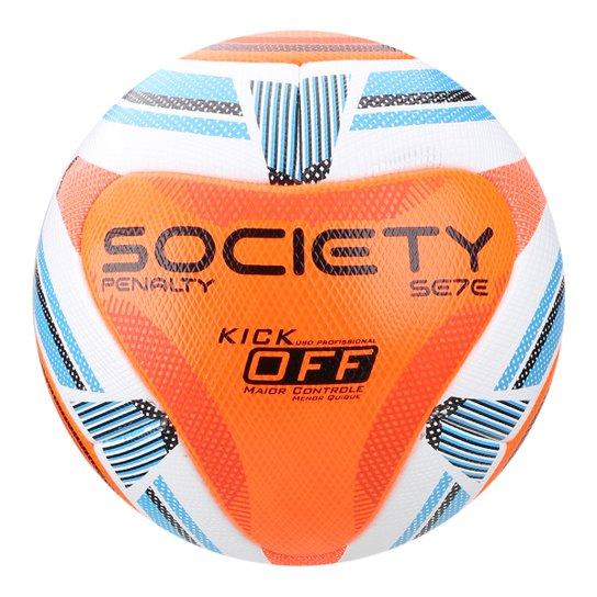 870e01da70 Bola de Futebol Society Penalty Se7E Pró Ko IX - Branco e Laranja ...