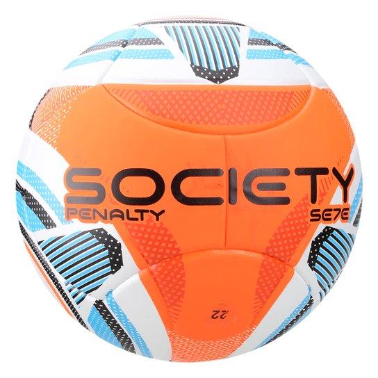 Bola de Futebol Society Penalty Se7E R3 Ko IX - Branco e Laranja ... 6853d63606757