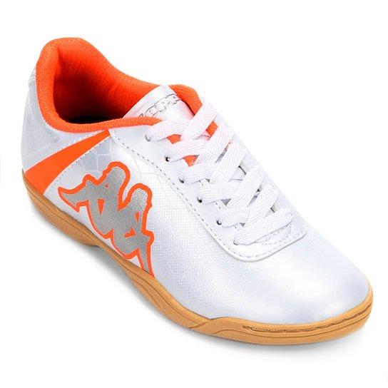 89036ec86 Chuteira Infantil Futsal Kappa Torpedo - Branco e Laranja - Compre ...