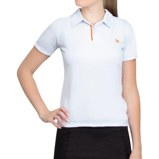 Camisa Polo Wilson Tryumph - Branco+Laranja 6f7700de62364