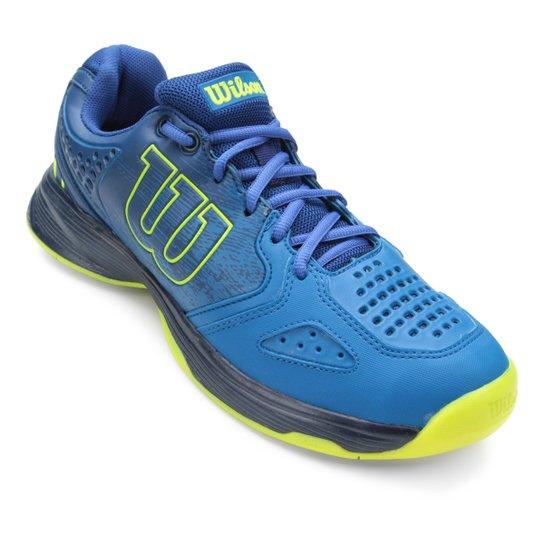 39060e9a1 Tênis Wilson K Energy Masculino - Azul e Verde - Compre Agora